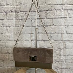 BROWNS COUTURE Genuine Suede Clutch Bag